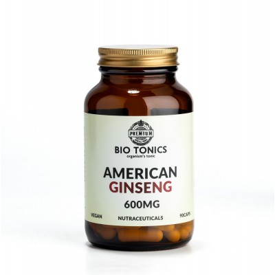 AMERICAN GINSENG EXTRACT 600mg / 90 VEGAN CAPS