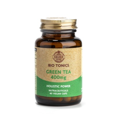 GREEN TEA EXTRACT 400mg / 40 VEGAN CAPS ANTIOXIDANT.PLANT DIET