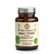 4 HERB'S TONIC EXTRACTS 400mg / 30 VEGAN CAPS  / PLANT MULTIVITAMIN