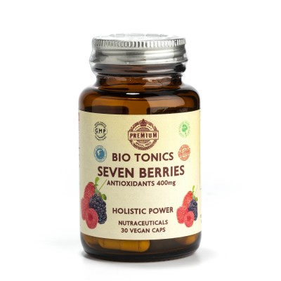 SEVEN BERRΙΕS EXTRACTS  400mg / 30 VEGAN CAPS ANTHOCYANIDINS.PROSTATE.LEGS