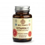 VITAMIN C 500mg / 40 VEGAN CAPS / IMMUNE.ANTIOXIDANT.METABOLISM