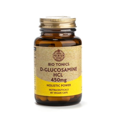 D- GLUCOSAMINE HCL 450mg / 40 VEGAN CAPS. HERB FOR JOINTS