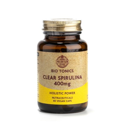 CLEAR SPIRULINA EXTRACT  400mg / 40 VEGAN CAPS PHYCOCYANIN.MULTI ALGAE