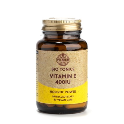 ELECTRIC VITAMIN E  400iu / 40 VEGAN CAPS NATURAL TOCHOPHEROL